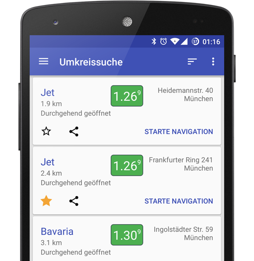 TankNavigator 2.0: Routen-Suche, Neues Design, Fahrzeug-Profile
